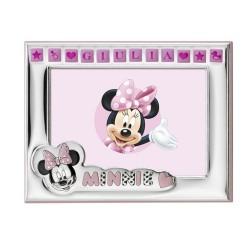 Cornice Portafoto Disney Bambina Minnie Personalizzabile cm 13x9