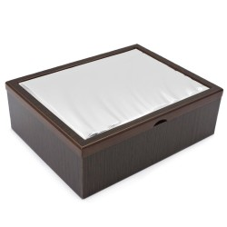 Drop Wooden Jewelry Box with Silver Cover