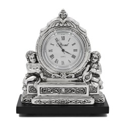 Baroque Table Clock Children with Mandolin