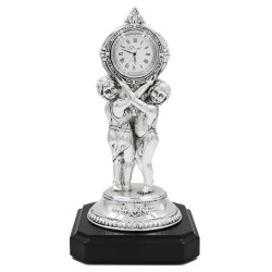 Baroque Desk Clock Young Slaves