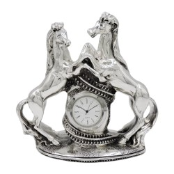 Orologio con Cavalli in Laminato Argento