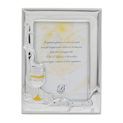 First Communion Picture Frame 3,5 x 5 with Glitters and Zircons